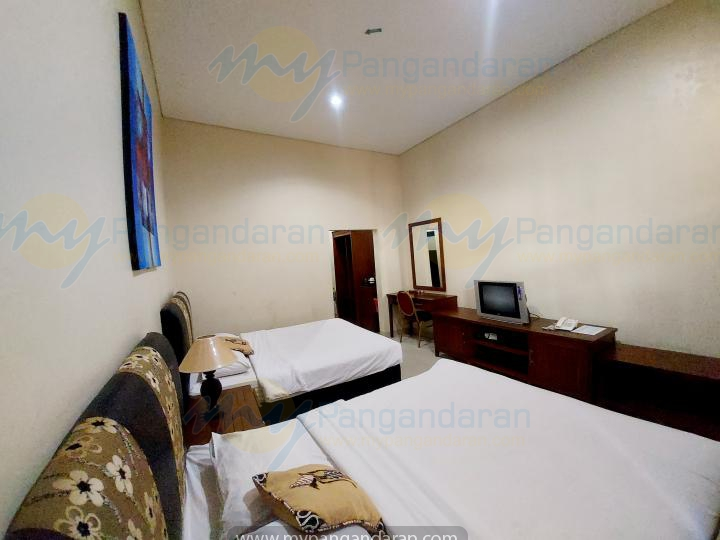 Tampilan Superior Room Krisna Beach Hotel Pangandaran